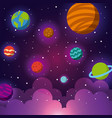 solar system icons set flat vector image vector image