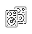 speakers icon in simple one line style vector image