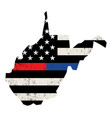 state west virginia police and firefighter vector image vector image