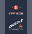 summer time beach logo set vector image