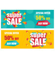 super sale banners template vector image vector image