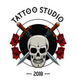 tattoo studio design vector image vector image