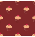 Tile cupcake pattern or seamless cake background vector image