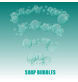 transparent soap bubbles on marine green vector image