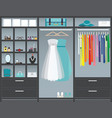 walk in closet10 vector image vector image
