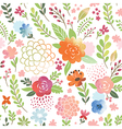 watercolor seamles floral pattern vector image vector image