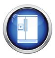 Wide refrigerator icon vector image