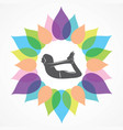 woman doing yogasan vector image vector image