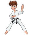 Young boy Karate Player vector image vector image