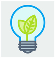 Young plant in light bulb poster vector image