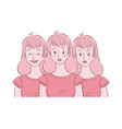 young woman experienced mood swings vector image vector image