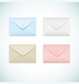 flat envelopes set vector image