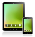 tablet computer mobile phone vector image