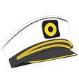 captain hat vector image