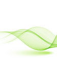abstract green wavy lines colorful vector image vector image