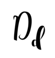 alphabet letter D lettering calligraphy manuscript vector image