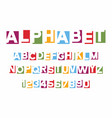 alphabet letters cut out from paper vector image vector image