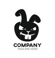 angry rabbit logo vector image