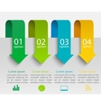 Arrows infographic template vector image vector image