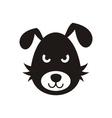 Bad dog icon vector image vector image