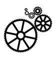 Black Cogs vector image vector image