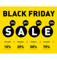 Black friday sale poster on light background vector image vector image