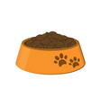 bowl with food for the dog and cat vector image