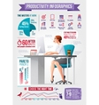 Business woman office with desktop computer vector image vector image
