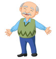 cartoon happy senior elderly old man vector image
