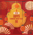 chinese lantern traditional red lantern vector image vector image