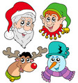 christmas faces collection 2 vector image