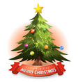 christmas tree with wishes banner vector image