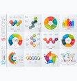 collection 12 templates for infographics vector image vector image