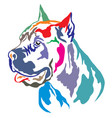 colorful decorative portrait of cane corso vector image vector image