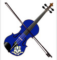 connecticut state fiddle vector image vector image