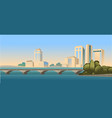 day city landscape road vector image vector image