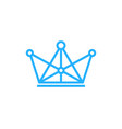 digital king logo icon design vector image vector image