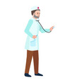 doctor stethoscope icon flat style vector image