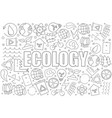 ecology background from line icon vector image