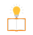 empty notebook with a lightbulb idea icon vector image vector image