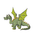 fantastic dinosaur with wings vector image
