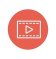 Film strip thin line icon vector image vector image