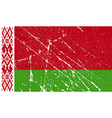 Flag of Belarus with old texture vector image