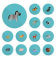 flat icons kitty camelopard gobbler and other vector image vector image