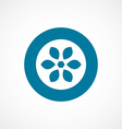 flower bold blue border circle icon vector image vector image