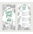Fresh Restaurant Menu Template vector image vector image