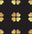 Gold seamless pattern with clover leaves the vector image vector image