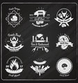 grill restaurant vintage emblems vector image vector image