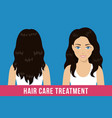 hair care treatment vector image vector image