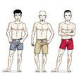 handsome men group standing with perfect body vector image